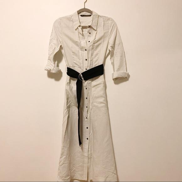 0d0851b833 Zara Maxi Shirt Dress